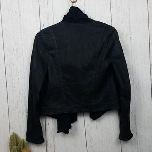 Free people Drape front Jacket black 4